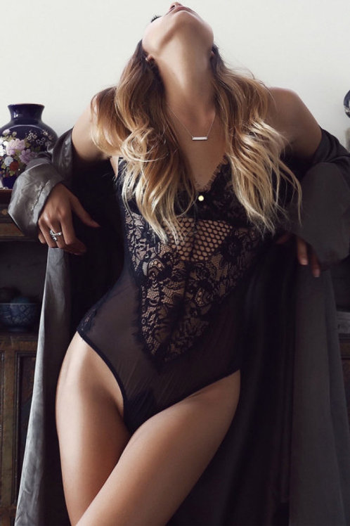 Black Sheer Lace Lingerie