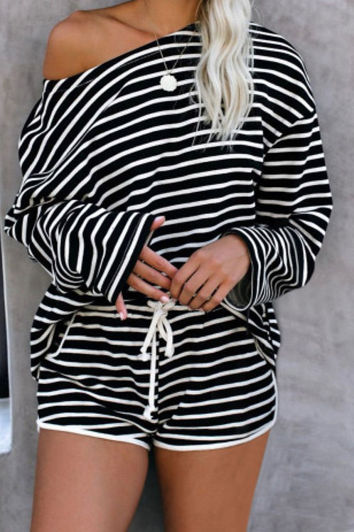 Black & White Stripe PJ/Loungewear