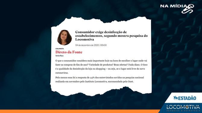 ESTADÃO: Consumidor exige desinfecção de estabelecimentos, segundo mostra pesquisa do Locomotiva