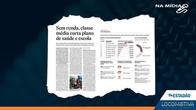 ESTADÃO: Sem renda, classe média corta plano de saúde e escola