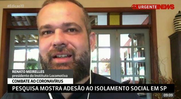GLOBO NEWS: Pesquisa mostra adesão ao isolamento social em SP