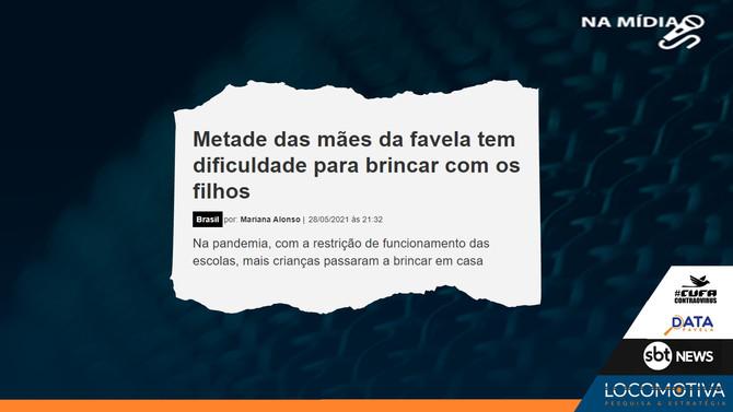 SBT NEWS: Metade das mães da favela tem dificuldade para brincar com os filhos