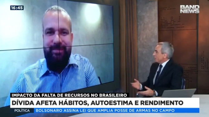 """BAND NEWS: 57 milhões de brasileiros estão """"muito preocupados"""" com as dívidas"""