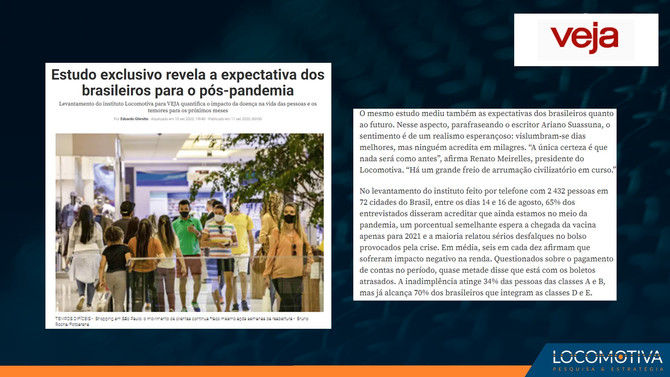 VEJA: Estudo exclusivo revela a expectativa dos brasileiros para o pós-pandemia