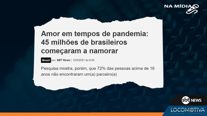 SBT NEWS: 45 milhões de brasileiros começaram a namorar durante a pandemia