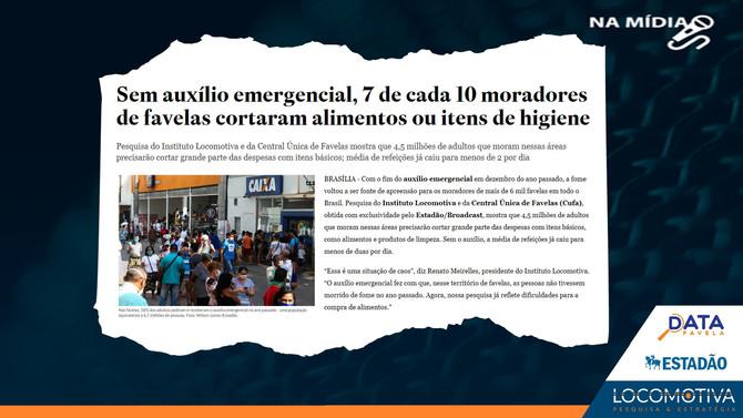 ESTADÃO: Sem auxílio, 7 de cada 10 moradores de favelas cortaram alimentos ou itens de higiene