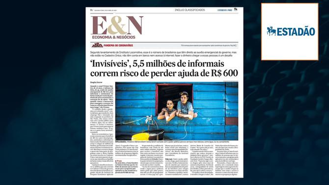 ESTADÃO: Invisíveis, 5,5 milhões de informais correm risco de perder ajuda de R$ 600