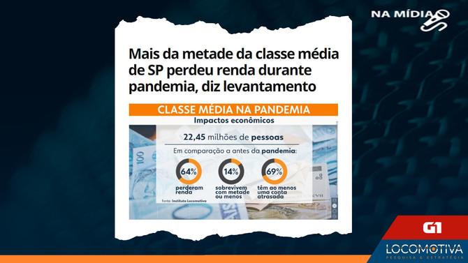 G1: Mais da metade da classe média de SP perdeu renda durante pandemia, diz levantamento