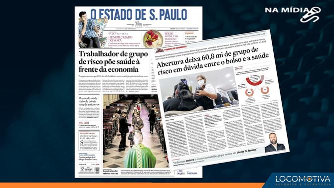 O ESTADO DE S. PAULO: Abertura deixa 60,8 mi do grupo de risco em dúvida entre o bolso e a saúde