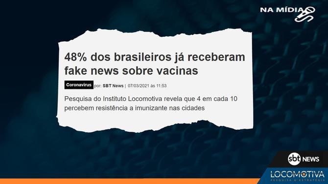 SBT NEWS: 48% dos brasileiros já receberam fake news sobre vacinas