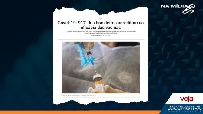 VEJA: 91% dos brasileiros acreditam na eficácia das vacinas