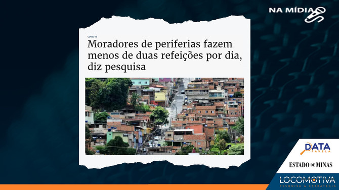 ESTADO DE MINAS: Moradores de periferias fazem menos de duas refeições por dia, diz pesquisa