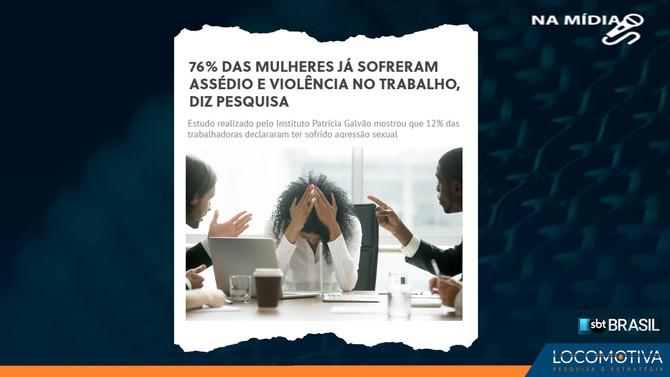 SBT BRASIL: 76% das mulheres já sofreram assédio e violência no trabalho, aponta pesquisa