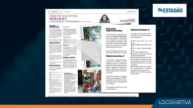 ESTADÃO: Campanha da ONG Gerando Falcões salva famílias da fome, diz pesquisa