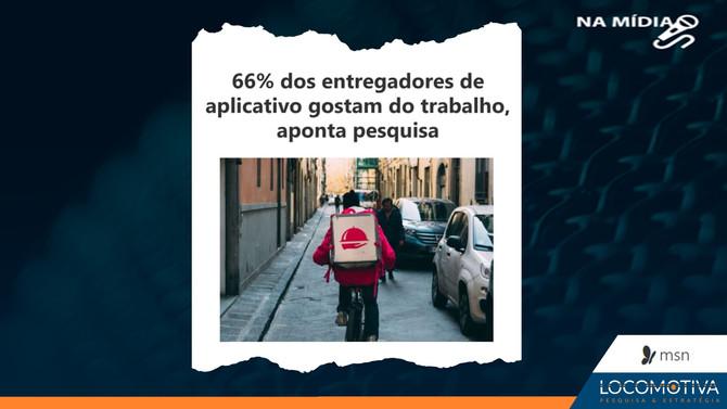 MSN: 66% dos entregadores de aplicativo gostam do trabalho, aponta pesquisa