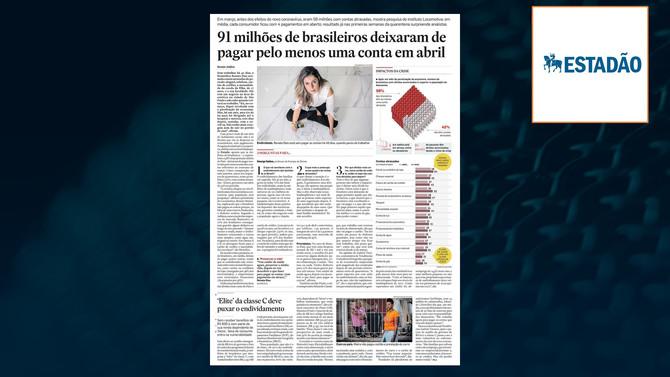 ESTADÃO: 91 milhões de brasileiros deixaram de pagar pelo menos uma conta em abril