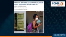 PODER 360: Eleitores preferem candidatos com pautas sobre saúde, educação e covid-19