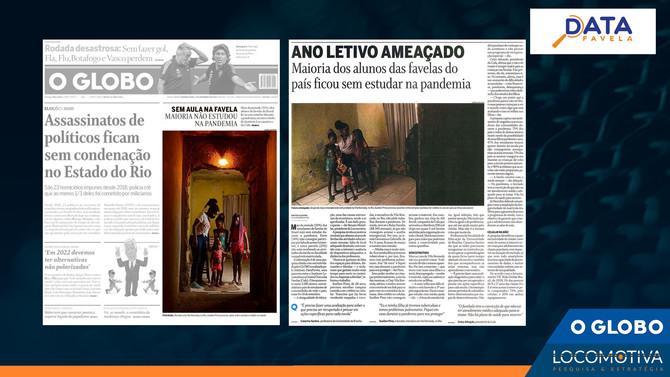 O GLOBO: Maioria dos alunos que moram em favelas ficou sem estudar na pandemia, mostra pesquisa