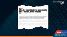 DIÁRIO DE S. PAULO: 54% dos brasileiros devem levar marmita para o trabalho, aponta pesquisa