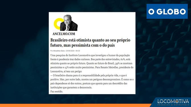 O GLOBO: Brasileiro está otimista quanto ao seu próprio futuro, mas pessimista com o do país