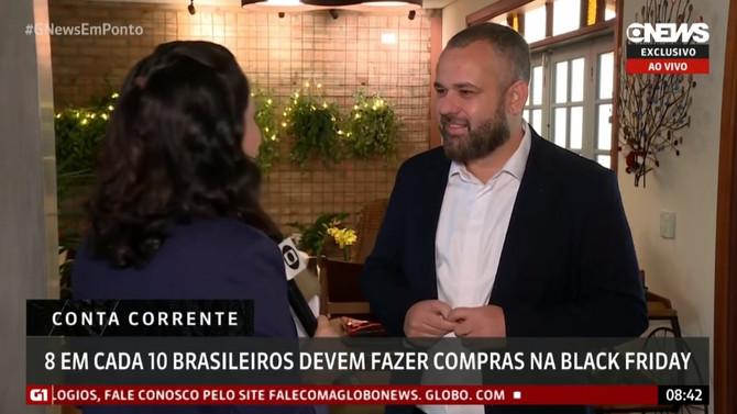 GLOBONEWS: Oito em cada dez brasileiros devem fazer compras na Black Friday