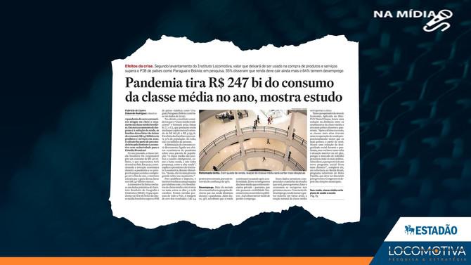 ESTADÃO: Pandemia tira R$ 247 bi do consumo da classe média no ano, mostra estudo