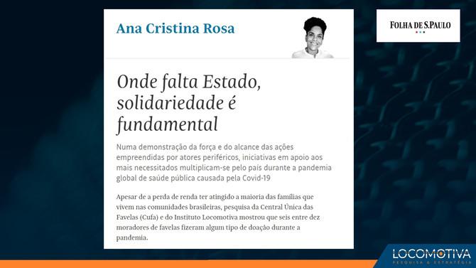 FOLHA DE S. PAULO: Onde falta Estado, solidariedade é fundamental