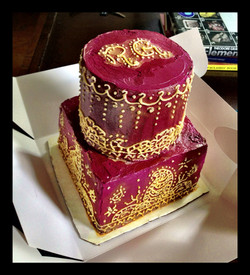 Henna Anniversary Cake