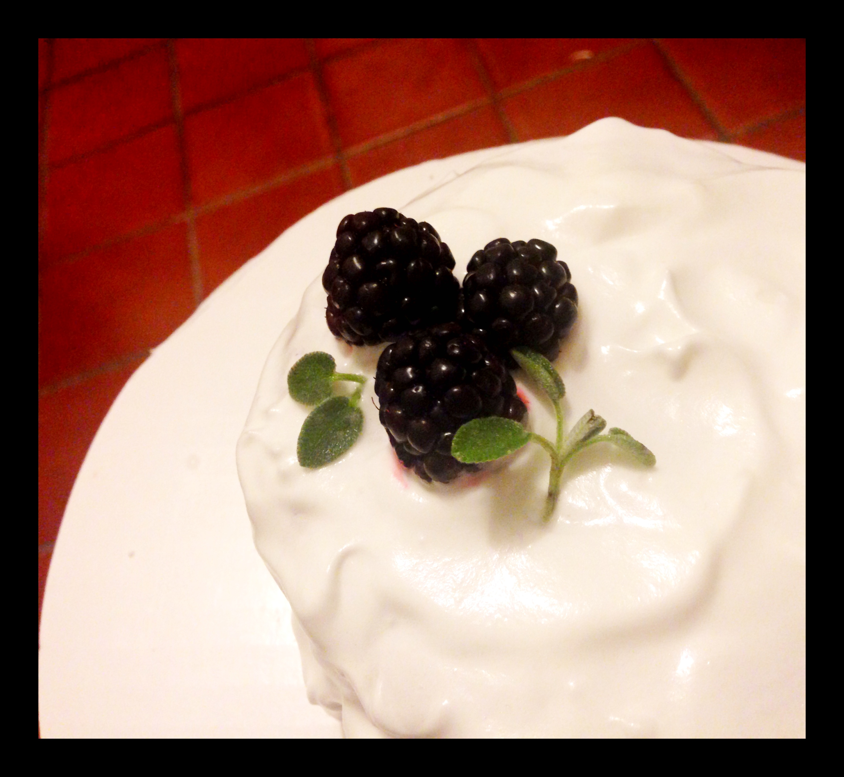Blackberry Sage Cake