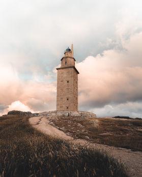 Atardecer en la Torre de hércules en A Coruña