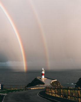 Doble arcoíris en Cabo Ortegal.