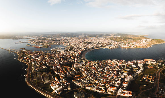 Panorámica de A Coruña, Galicia