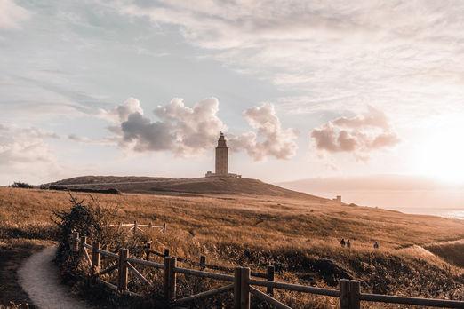 Atardecer en la Torre de Hércules, A Coruña