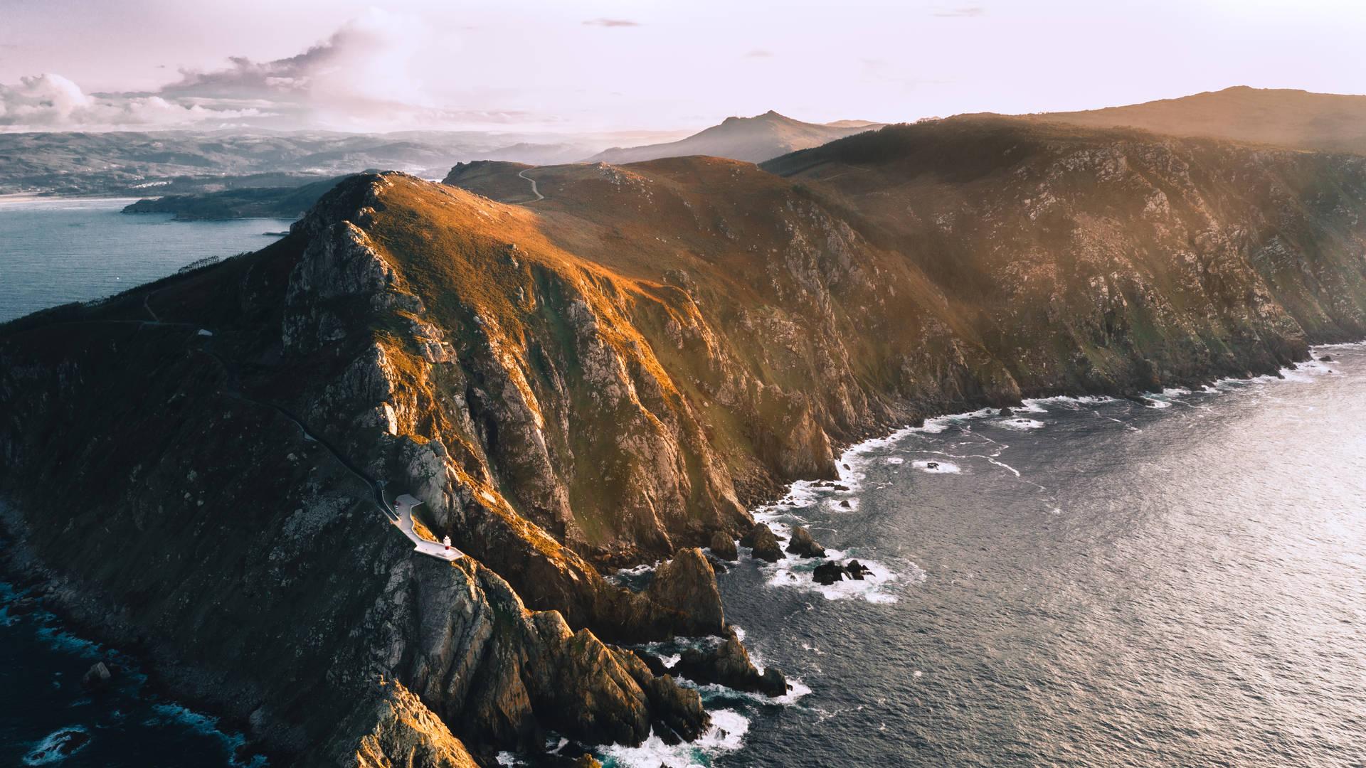 Vista aérea cabo ortegal Galicia