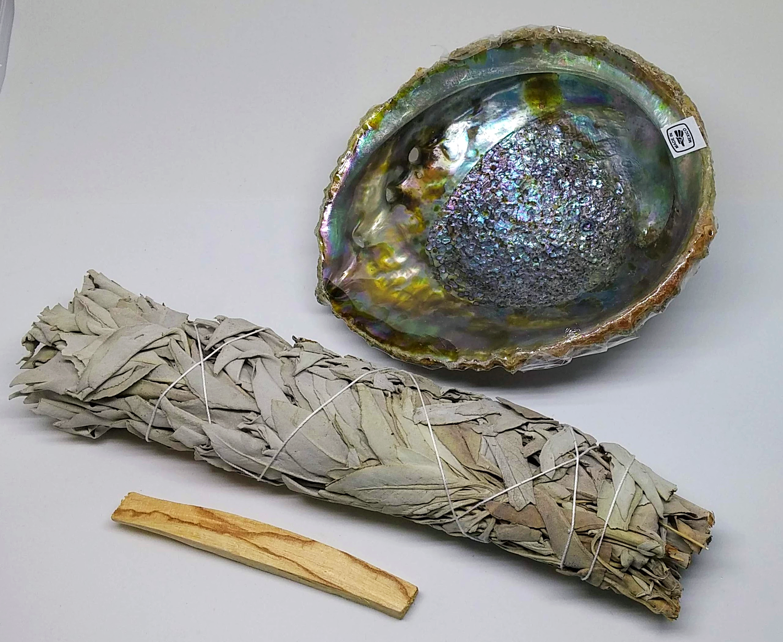 Abalone Shell, Smudge Stick, Palo Santo