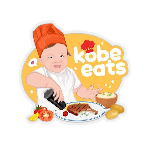 Kobe Eats Steak Sticker