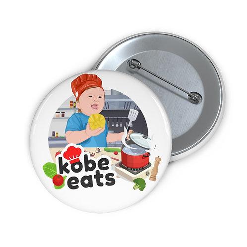 Kobe Eats Lemon Pin Button