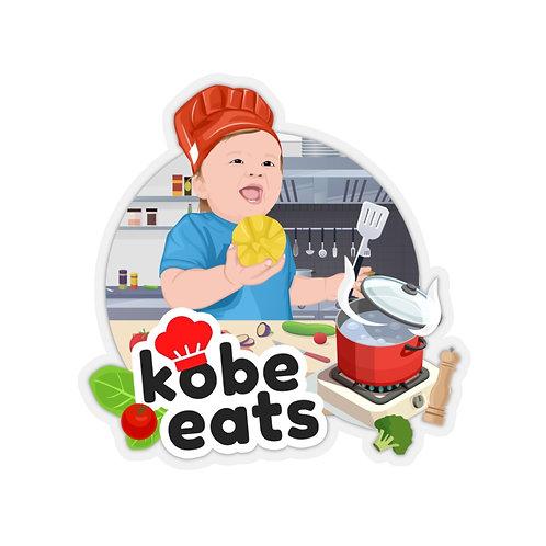 Kobe Eats Lemon Sticker