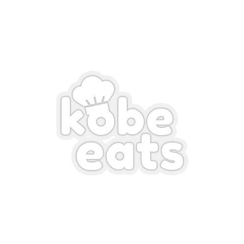 Kobe Eats Sticker (White)