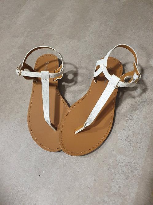 Sandales plates blanche