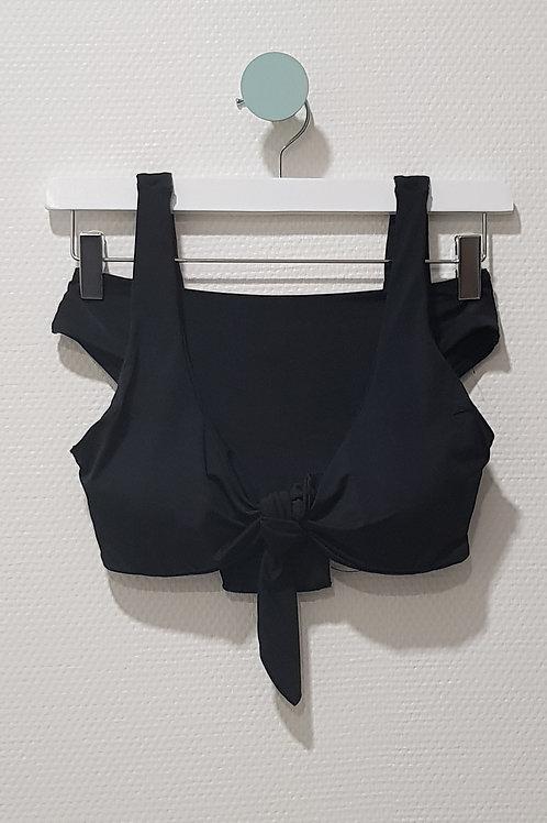 Maillot de bain 2 pièces nœud noir