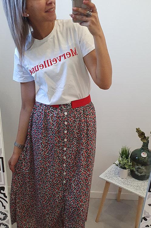 "Jupe longue ""Elisa"" rouge"