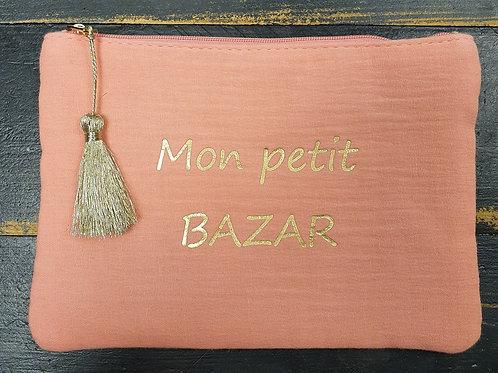 """Pochette """"Bazar"""" orange"""