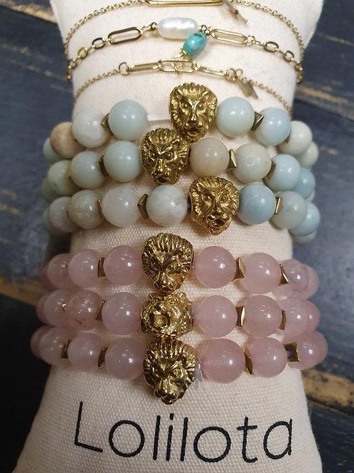 "Bracelet ""Madisson"" Lion/rose"