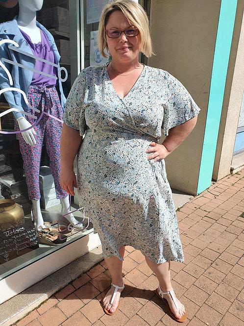 Robe Bleu Clair Grande Taille