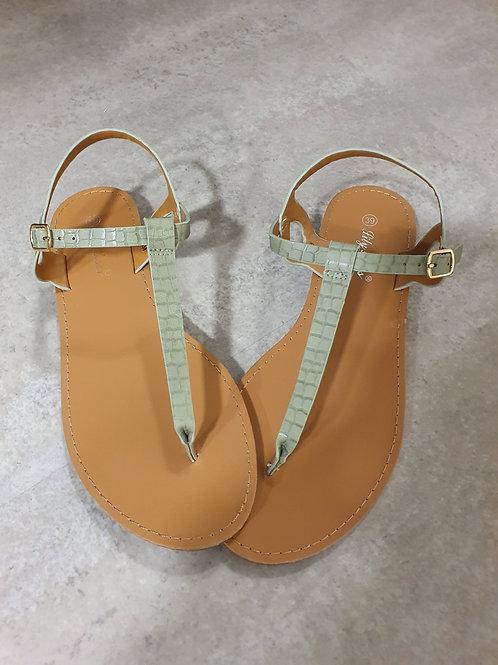 Sandales vert d'eau