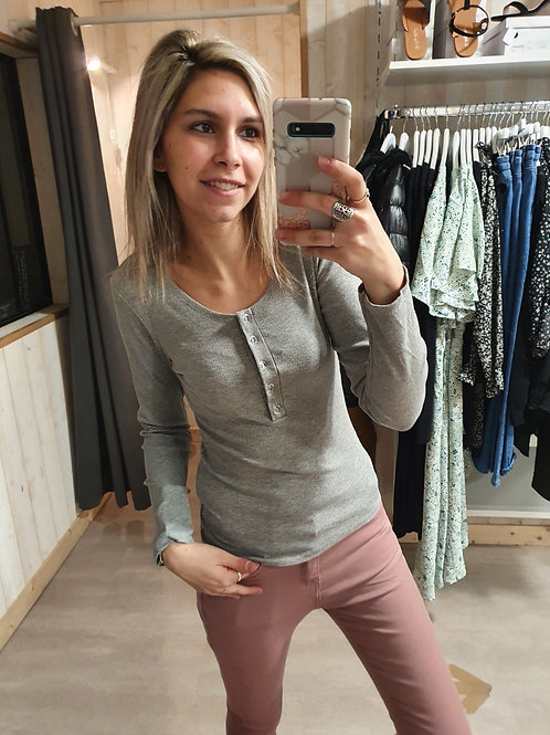 """Tee-shirt manches longues """"gris"""""""