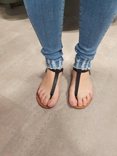 Sandales plates noire