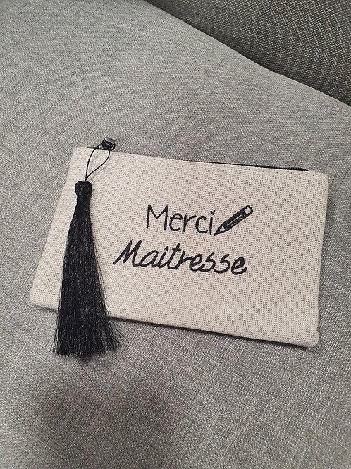 "Petite pochette ""Maitresse"" noir"