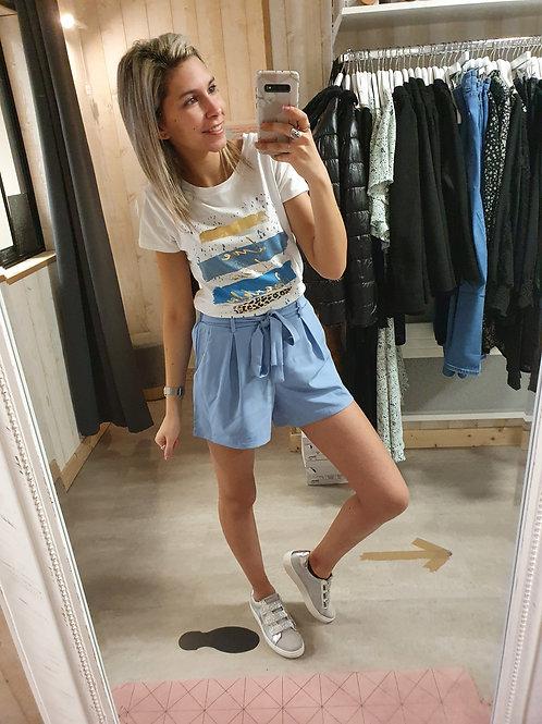"""Tee-shirt love """"bleu"""""""